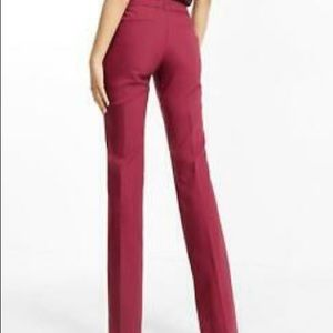 Express size 2r maroon editor dress pants